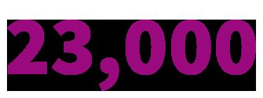 23,000 intercity route kilometres