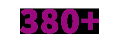 380+ angeschlossene Rechenzentren