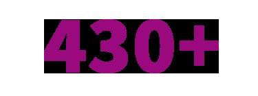 430+ vernetzte Rechenzentren